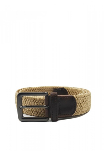 08b7799c0ad Shop Chase Fashion Leather Braided Elastic Stretch Belt Online on ZALORA  Philippines