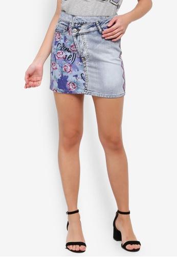 6c681cc36 Buy Desigual Rose Denim Mini Skirt Online | ZALORA Malaysia