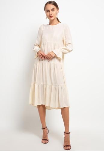 Benang Jarum beige Rara Dress 07DDFAACEEF436GS_1