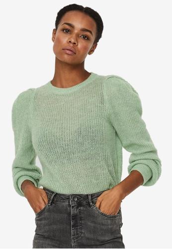 Vero Moda 綠色 Radella 長袖 O-Neck Sweater 14604AA90F69E2GS_1