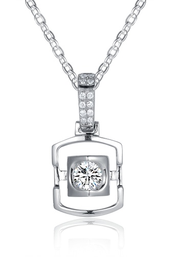 Prince Jewellery And Watch white and silver and gold 18K White Gold Diamond Square Pendent A39D9AC24B2B6BGS_1