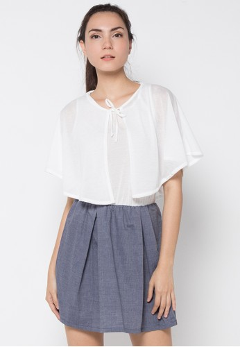 Gaff white Denim Dress GA640AA41IRUID_1
