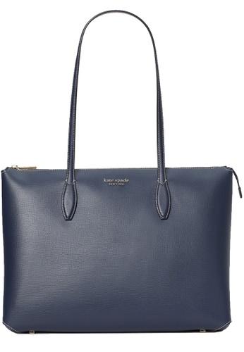 KATE SPADE navy Kate Spade All Day Large Zip-Top Tote Bag in Blazer Blue 6C28AAC7EE31D0GS_1