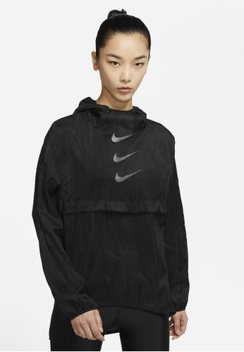 Nike black As W Nk Run Dvn Po Pckbl Jkt Running 0A207AA186BB41GS_1