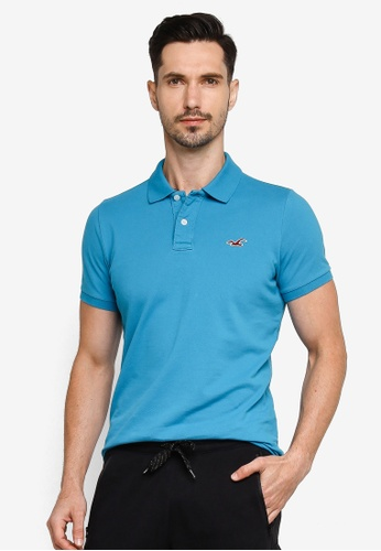 Hollister blue Musclefit Polo Shirt F233AAA425F89EGS_1