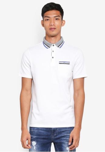 Burton Menswear London white White Tri-Tip Popcorn Polo Shirt 648EDAAEFBAAB0GS_1