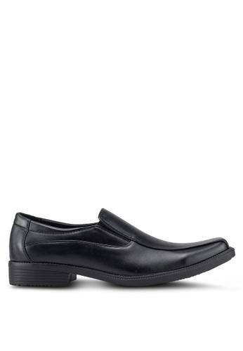 Rocklander 黑色 質感懶人皮鞋 7EE64SHA876D8DGS_1