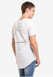 Factorie white Curved Tail Tee FA880AA0SAB4MY_1