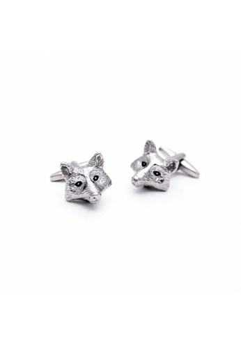 Red Stag And Hind silver Red Stag And Hind Rhodium Fox Head Cufflinks 70E96ACC9FA8CEGS_1