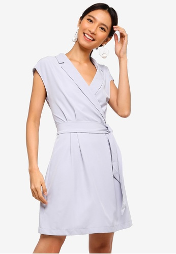 b109280ddb5 Buy ZALORA Blazer Collar Fit And Flare Dress Online on ZALORA Singapore