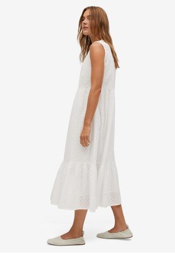 Mango white Openwork Cotton Dress 5B7EAAAD0C30A9GS_1