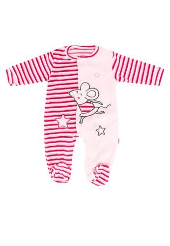 Babybol pink Baby Long Sleeve Romper B042DKA22F931FGS_1