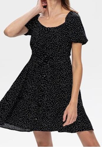 Promod black Dotted Dress AF442AAB26A92FGS_1