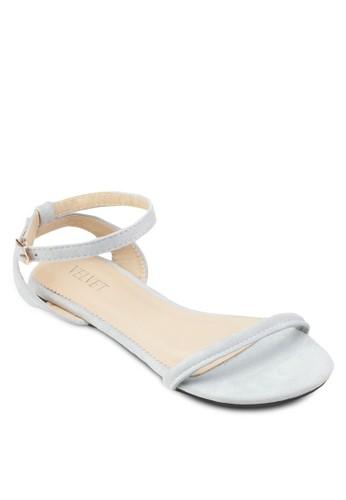 Shelby 交叉踝帶基本款涼鞋、 女鞋、 鞋VelvetShelby交叉踝帶基本款涼鞋最新折價