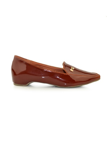 SHINE brown Point Toe Classic loafers SH554SH0G1ROSG_1