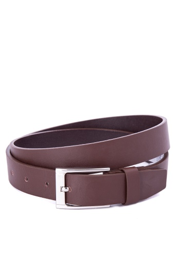 Topman brown Split Leather Belt TO100AC0J19CPH_1