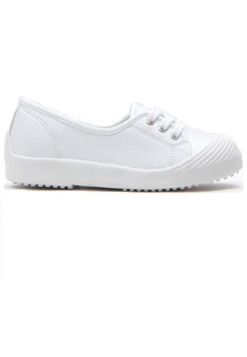 Crystal Korea Fashion 白色 韓國製百搭舒適平底輕便鞋 88164SHCACD417GS_1