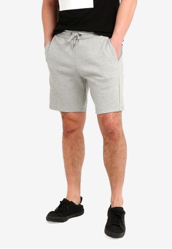 River Island grey New Pique Shorts 6F9EDAA4A66E34GS_1