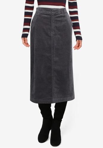 LOWRYS FARM grey Cord Midi Skirt 74D63AAF1A889CGS_1