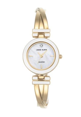 Anne Klein white and gold Anne Klein Ladies - Diamond Accented Watch - AK-2622WTGB AN844AC0RIB2MY_1