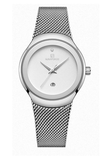 Shop Fashion by Latest Gadget Naviforce NF5004L Stainless Steel Quartz  Watch With Date – Silver Online on ZALORA Philippines