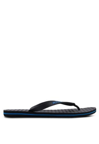 Jack & Jones 黑色 基本拖鞋 3C865SHE615DBEGS_1