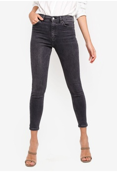 8ccbff5c6c9 TOPSHOP black Washed Black Jamie Jeans B6081AAA063188GS 1