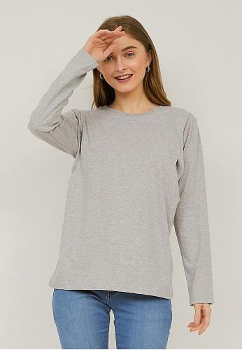 Nyonya Nursing Wear grey Nyonya Nursing Wear - Esiana Misty Grey T-Shirts 5FAEBAABCFE3BFGS_1