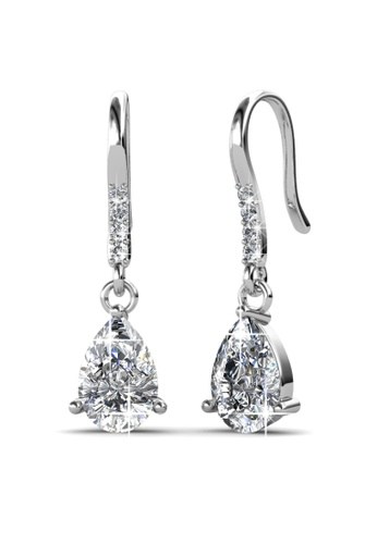 Her Jewellery silver Her Jewellery Dew Drop Earrings (White Gold) with 18K Gold Plated HE210AC30HIBSG_1