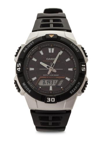 Casio black Casio Men's Black Resin Quartz Watch CA843AC44VIHMY_1