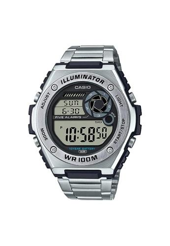 Casio silver CASIO GENERAL MWD-100HD-1AVDF MEN'S WATCH 494D5ACE7B50D6GS_1