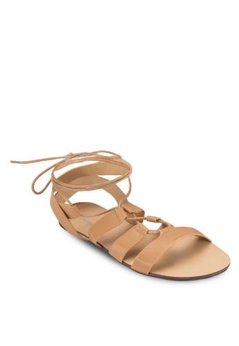 多帶繫帶平底羅馬涼鞋、 女鞋、 鞋SomethingBorrowed多帶繫帶平底羅馬涼鞋最新折價