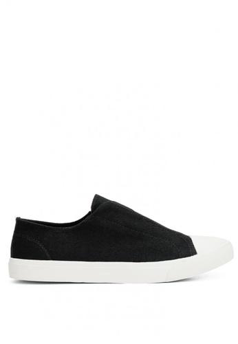 Anarkyzt black Glida Slip On Canvas Sneakers AN992SH0KMJFPH_1