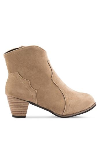 Sunnydaysweety 褐色 2018 新款復古短靴 RA101212BW 139A9SH5CDB025GS_1