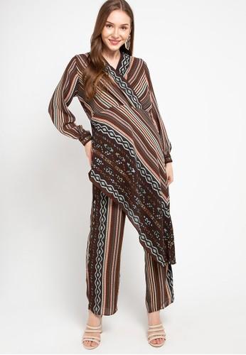 Kamilaa by Itang Yunasz brown Setelan Etnik 06112AAE094C02GS_1