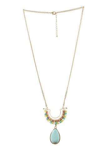 La Miina gold Farsiris Ethnic Necklace ABA20ACE02B570GS_1