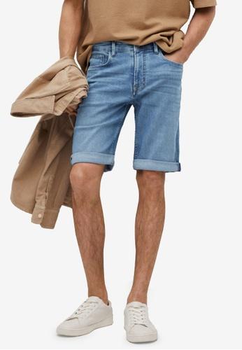MANGO Man blue Medium-Wash Denim Shorts 97F17AA540921CGS_1
