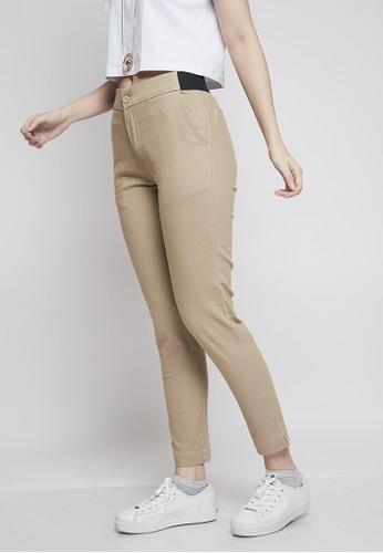 IHANG brown IHANG Flo Soft Denim Long Pants Brown F6A9FAA32FA031GS_1