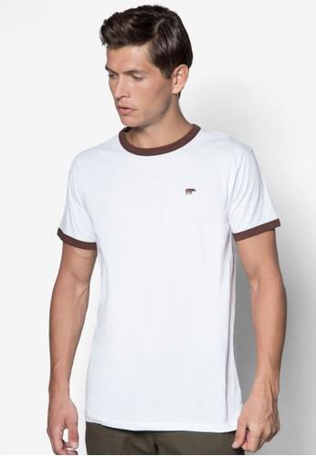 撞色圓領TEE, 服飾esprit outlet台北, T恤