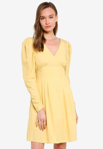 URBAN REVIVO yellow Princess Dress EE419AAB67319DGS_1