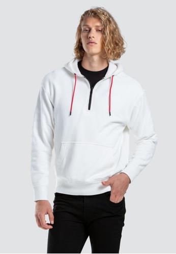 Levi's white Levi's x Justin Timberlake Half Zip Hoodie Men 76108-0002 4E8D3AA777AF39GS_1