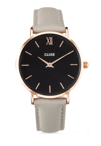CLUSE gold Minuit Rose Gold Black/Grey CL30018 CL977AC0RDBIMY_1