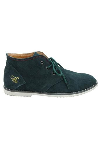 midzone green Suede Leather High Cut MI949SH97OXAMY_1