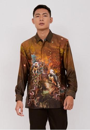 Batik Wibowo brown Partha Batik Shirt 21C43AA6DD56B6GS_1
