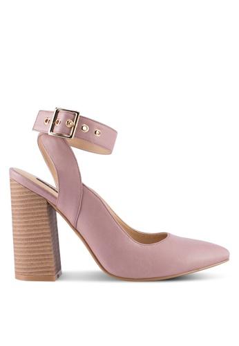ZALORA pink Stacked Detail Chunky Heels 26868SH8705963GS_1