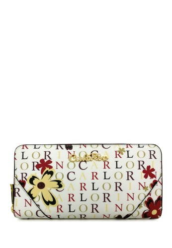 Carlo Rino white Carlo Rino 0303678-503-00 Zip around Long Wallet CA220AC06KYNMY_1