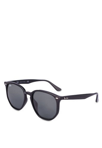 Ray-Ban black Injected Unisex RB4306F Sunglasses DB1AAGLB3281E0GS_1