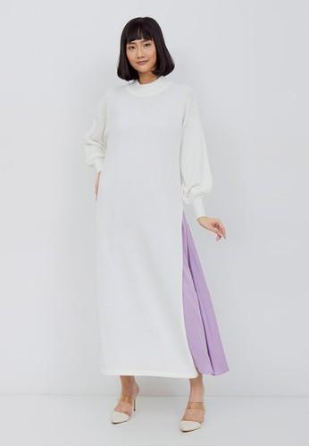 Kimora Kei white Kimora Kei Baju Wanita Chika Turtle Neck Dress Winter White F226EAA4A5B4AEGS_1