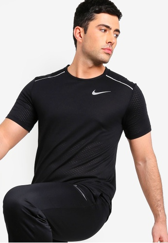 3354c6e7edf49 Nike black As Men's Nike Breathe Rise 365 Short Sleeves Top  E7901AA91FA27CGS_1. CLICK TO ZOOM