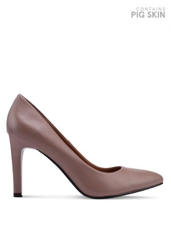 BETSY beige Classic Pump Heels 6684BSH55C8763GS_1